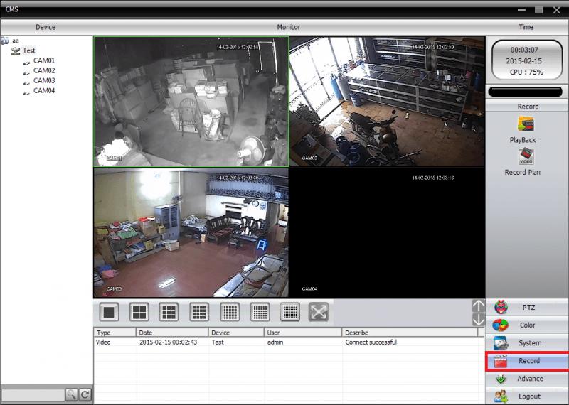 Hướng dẫn sử dụng phần mềm CMS để quản trị hệ thống camera eView